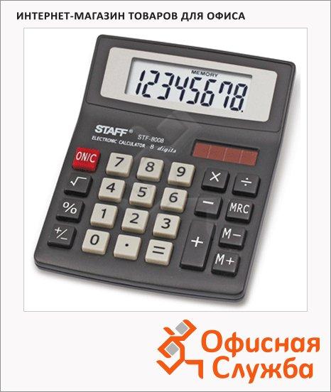 фото: Калькулятор настольный Staff STF-8008 черный 8 разрядов