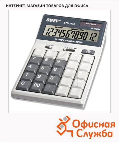 Калькулятор настольный Staff STF-3112 белый, 12 разрядов