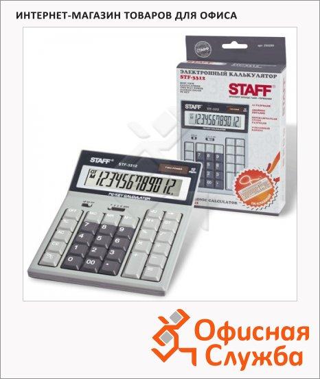 фото: Калькулятор настольный Staff STF-3312 серый 12 разрядов