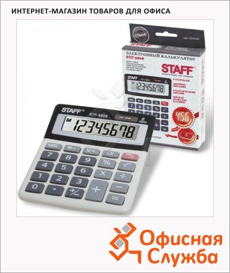 фото: Калькулятор настольный Staff STF-5808 серый 8 разрядов