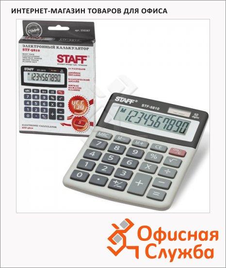 фото: Калькулятор настольный Staff STF-5810 серый 10 разрядов