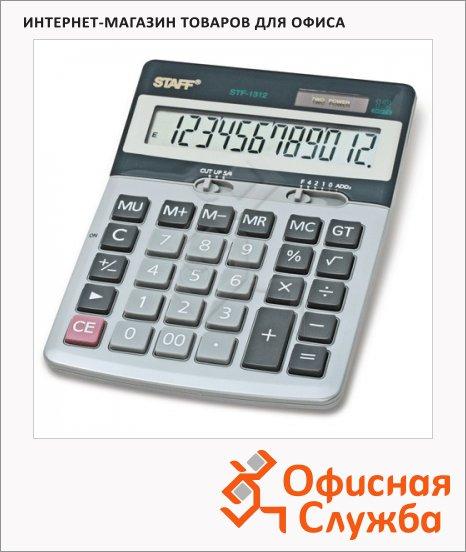 фото: Калькулятор настольный Staff STF-1312 серебристый 12 разрядов