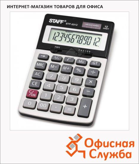 Калькулятор настольный Staff STF-2312 серебристый, 12 разрядов