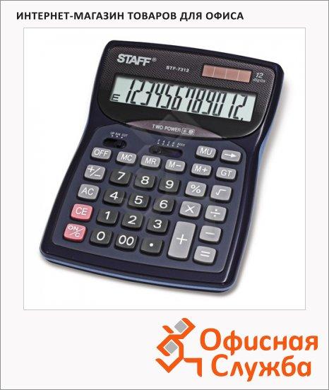 Калькулятор настольный Staff STF-7312 черный, 12 разрядов