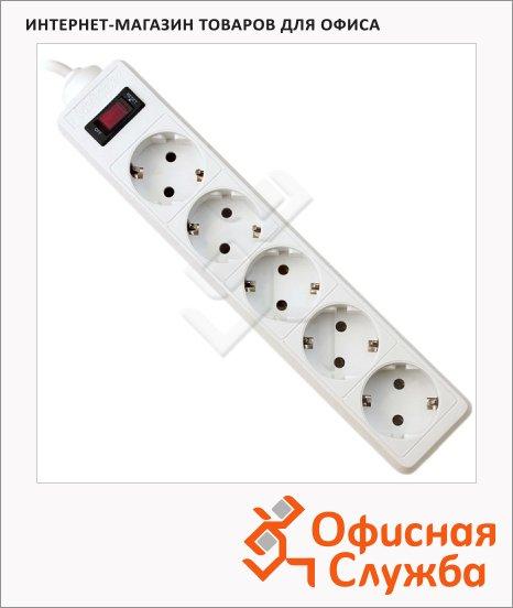 Сетевой фильтр Defender ES, 5 розеток, белый, 3м