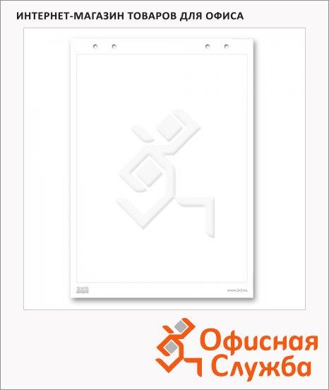 фото: Блокнот для флипчарта 2X3 B04 66х99см 20 листов, белый