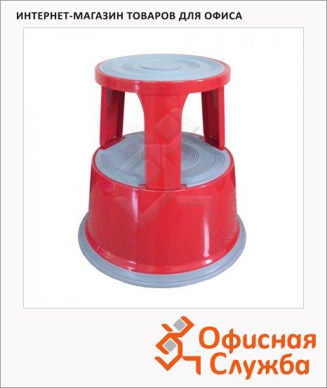 Лестница-тумба Brauberg 2 ступени, h=43см, красная
