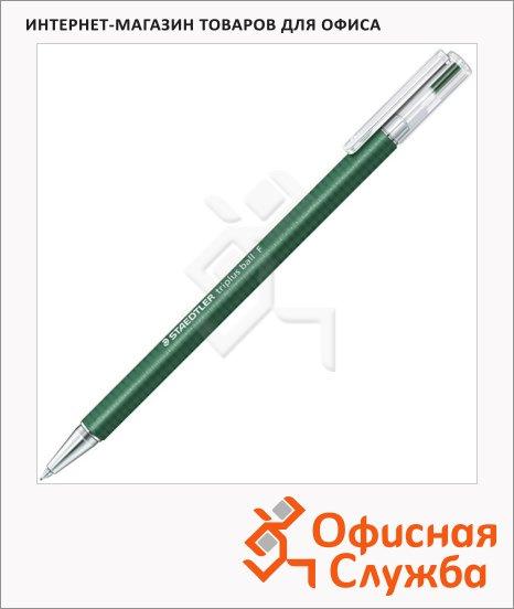 Ручка шариковая автоматическая Staedtler Triplus Ball F зеленая, 0.3мм