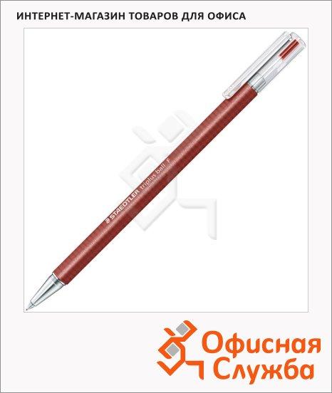 фото: Ручка шариковая автоматическая Staedtler Triplus Ball F красная 0.3мм