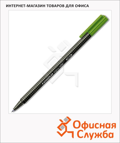 Ручка-роллер Staedtler зеленая, 0.4мм