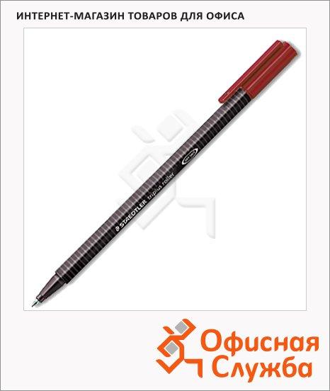 Ручка-роллер Staedtler Triplus, 0.4мм, 0.3мм, красная