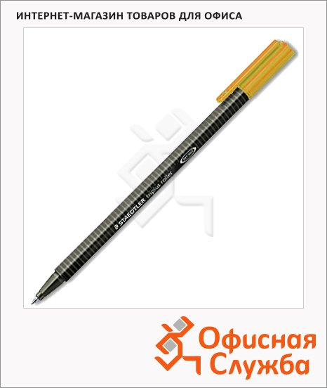 фото: Ручка-роллер Staedtler Triplus 0.4мм, оранжевая