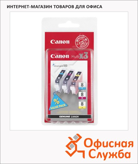 фото: Картридж струйный Canon CLI-8CMY 3 цвета, (0621B029)