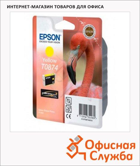Картридж струйный Epson C13 T0874 4010, желтый