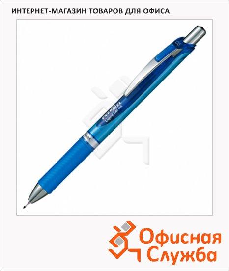 фото: Ручка гелевая автоматическая Pentel EnerGel BLN75 синяя 0.25мм, синий корпус