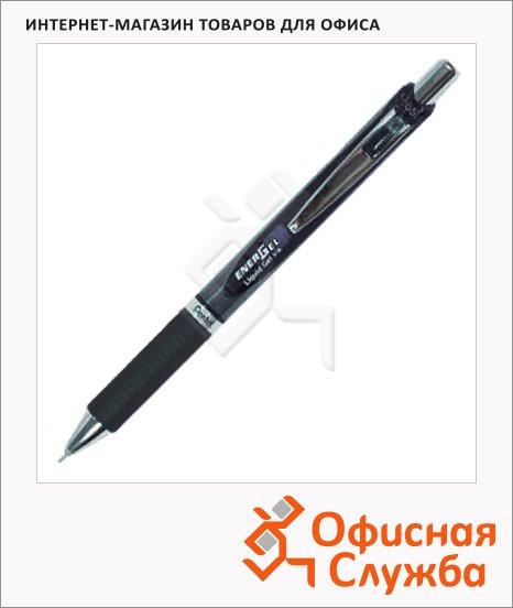 Ручка гелевая автоматическая Pentel EnerGel BLN75 черная, 0.3мм