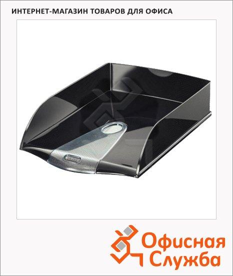 Лоток горизонтальный для бумаг Leitz Allura 384х253х71мм, черная жемчужина, 52000095