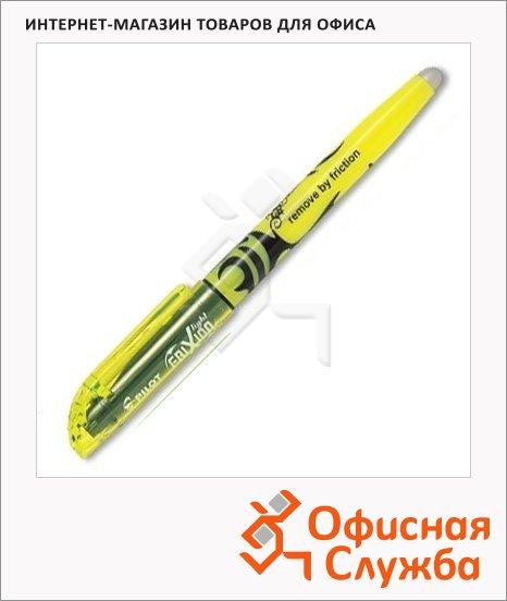 Текстовыделитель Pilot Frixion Light желтый, 1-3 мм, скошенный наконечник, стираемый, с резинкой