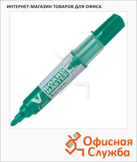 Маркер для досок Pilot WBMA-VBM-M-BG зеленый, 2-5мм, круглый наконечник