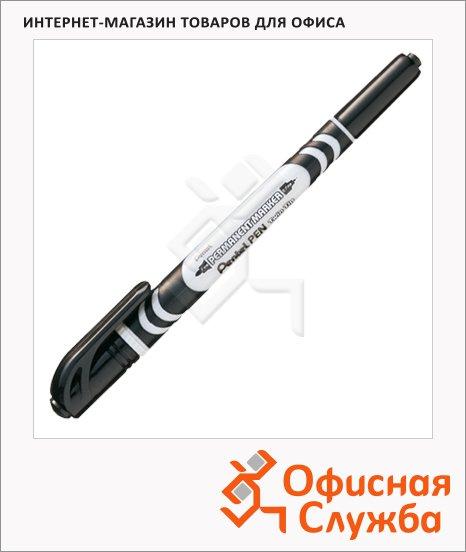 Маркер для CD перманентный Pentel N65W черный, 1-3.5мм, двухсторонний