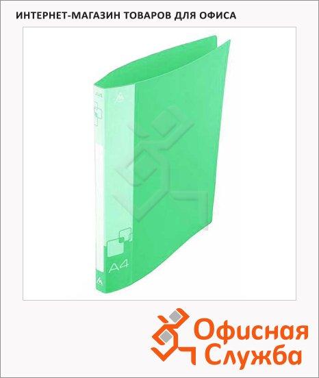 фото: Папка на 2-х кольцах А4 Бюрократ зеленая 18 мм, 0818/2Rgrn