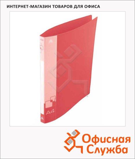 фото: Папка на 2-х кольцах А4 Бюрократ красная 18 мм, 0818/2Rred