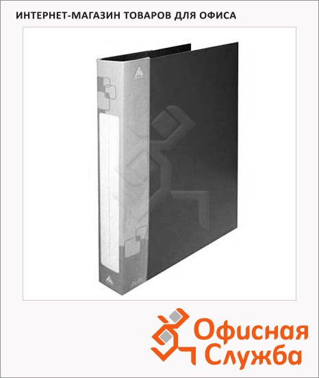 фото: Папка на 2-х кольцах А4 Бюрократ черная 27 мм, 0827/2Rblck