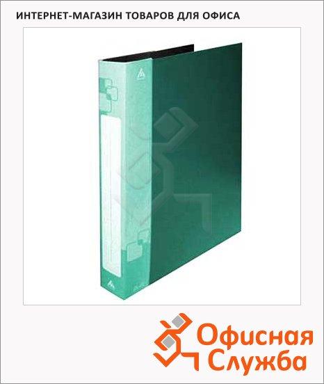 Папка на 2-х кольцах А4 Бюрократ зеленая, 27 мм, 0827/2Rgrn