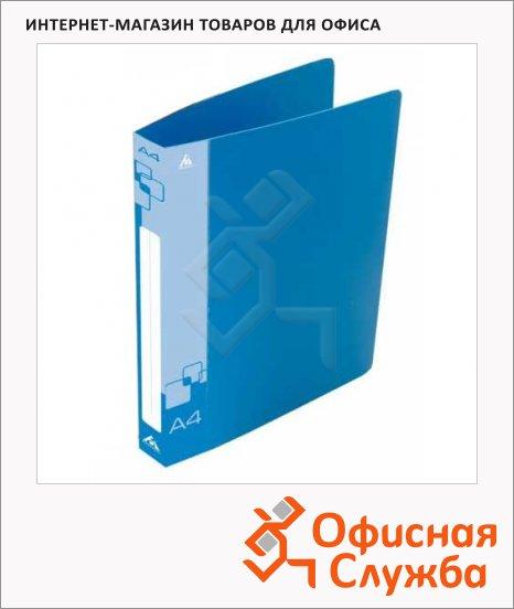 Папка на 2-х кольцах А4 Бюрократ синяя, 40 мм, 0812/2Rblue