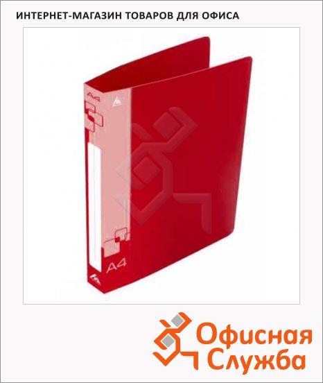 Папка на 2-х кольцах А4 Бюрократ красная, 40 мм, 0812/2Rred
