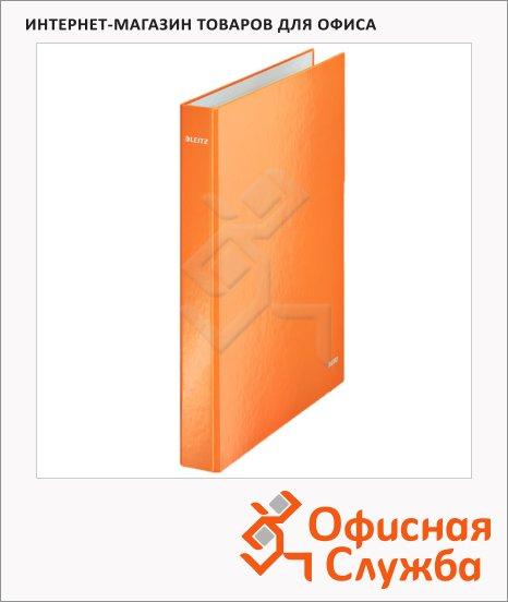 Папка на 4-х кольцах А4 Leitz Active Wow оранжевая, 40 мм, 42420044