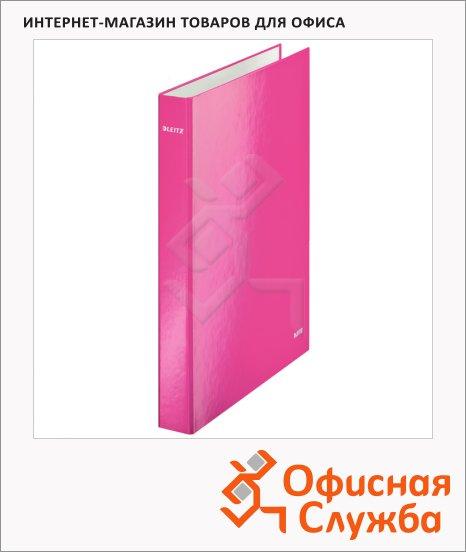 Папка-панорама на 4-х кольцах A4 Maxi Leitz Active Wow розовая, 40 мм, 42420023