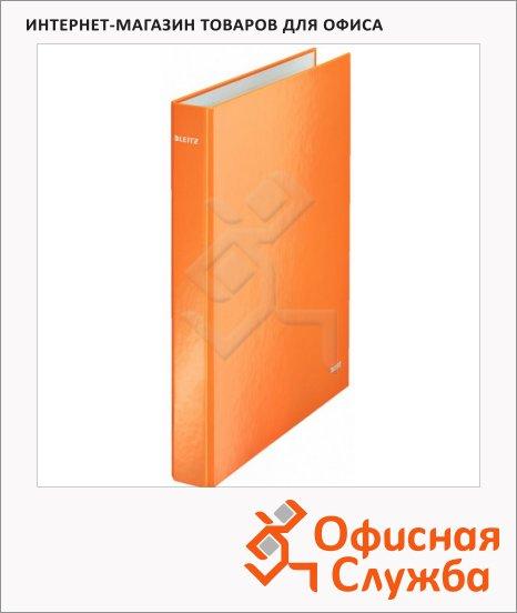 Папка-панорама на 2-х кольцах A4 Maxi Leitz Wow оранжевая, 40 мм, 42410044