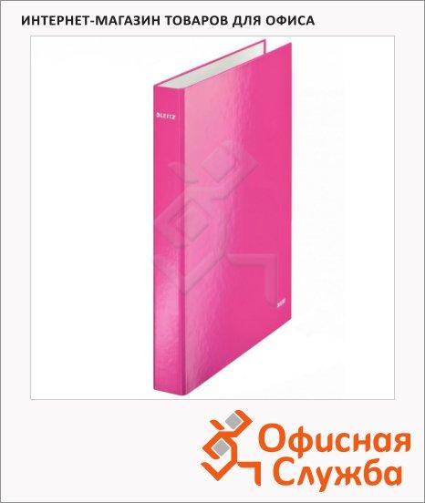 Папка-панорама на 2-х кольцах A4 Maxi Leitz Wow розовая, 40 мм, 42410023