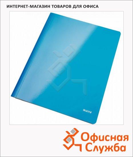 Скоросшиватель картонный Leitz WOW синий, А4, 30010036