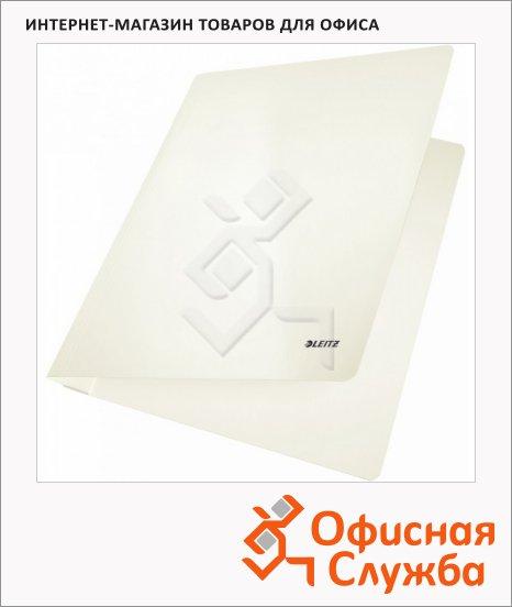 Скоросшиватель картонный Leitz WOW белый, А4, 30010001