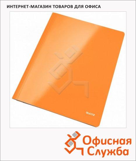 фото: Скоросшиватель картонный Leitz WOW оранжевый А4, 30010044
