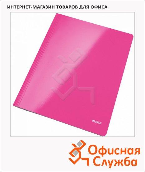 Скоросшиватель картонный Leitz WOW розовый, А4, 30010023