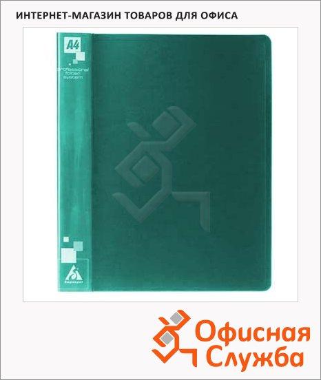Папка на 4-х кольцах А4 Бюрократ зеленая, 18 мм, 0818/4Rgrn