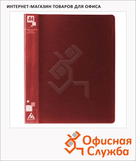 фото: Папка на 4-х кольцах А4 Бюрократ красная 18 мм, 0818/4Rred