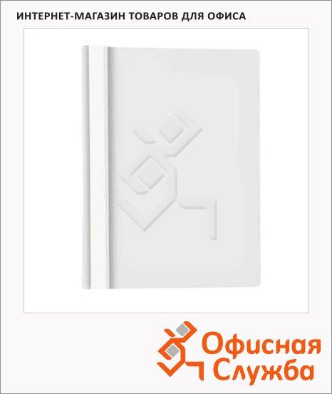 фото: Скоросшиватель пластиковый Бюрократ белый А4, PS20WH