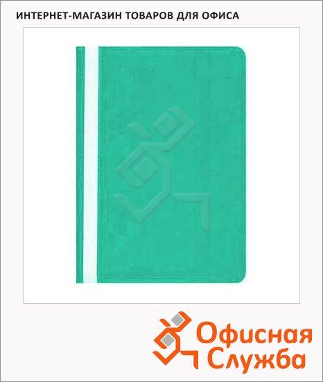 Скоросшиватель пластиковый Бюрократ бирюзовый, А4, PS20TURG