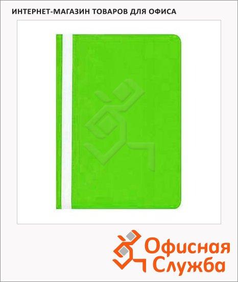 Скоросшиватель пластиковый Бюрократ салатовый, А4, PS20LETT