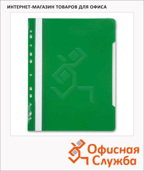 Скоросшиватель с перфорацией Бюрократ зеленый, А4, PS-P20GRN