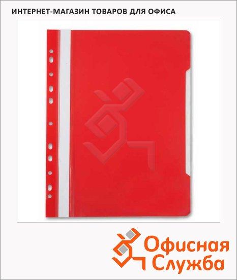 фото: Скоросшиватель с перфорацией Бюрократ красный А4, PS-P20RED