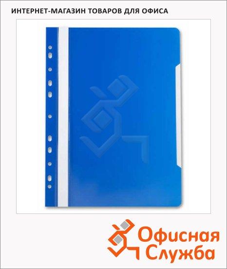 Скоросшиватель с перфорацией Бюрократ синий, А4, PS-P20BLU