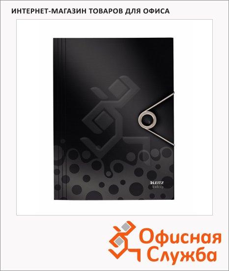 Пластиковая папка на резинке Leitz Bebop черная, A4, до 150 листов, 45630095