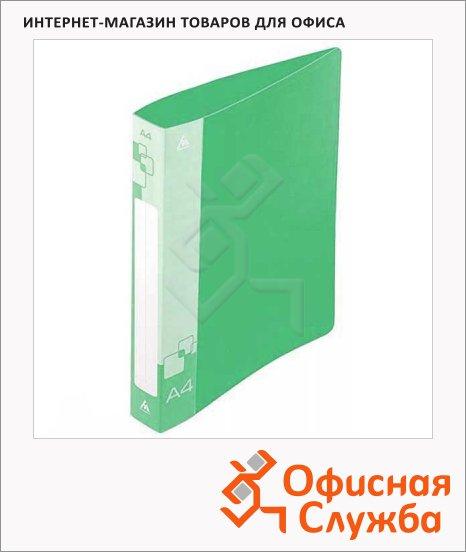 Папка пластиковая с зажимом Бюрократ зеленая, А4, 15мм, PZ05CGREEN