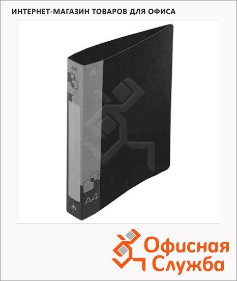 Папка пластиковая с зажимом Бюрократ черная, А4, 15мм, PZ05CBLCK