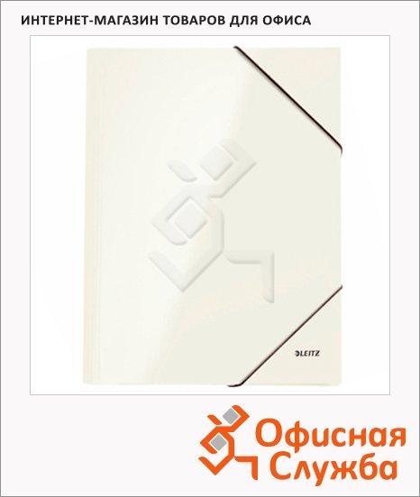 фото: Картонная папка на резинке Leitz WOW перламутровая А4, до 250 листов, 39820036